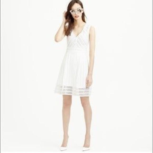 1aee0bc6178 J. Crew Dresses   Skirts - J. Crew White V-neck eyelet dress
